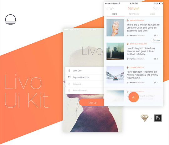 Livo UI Kit