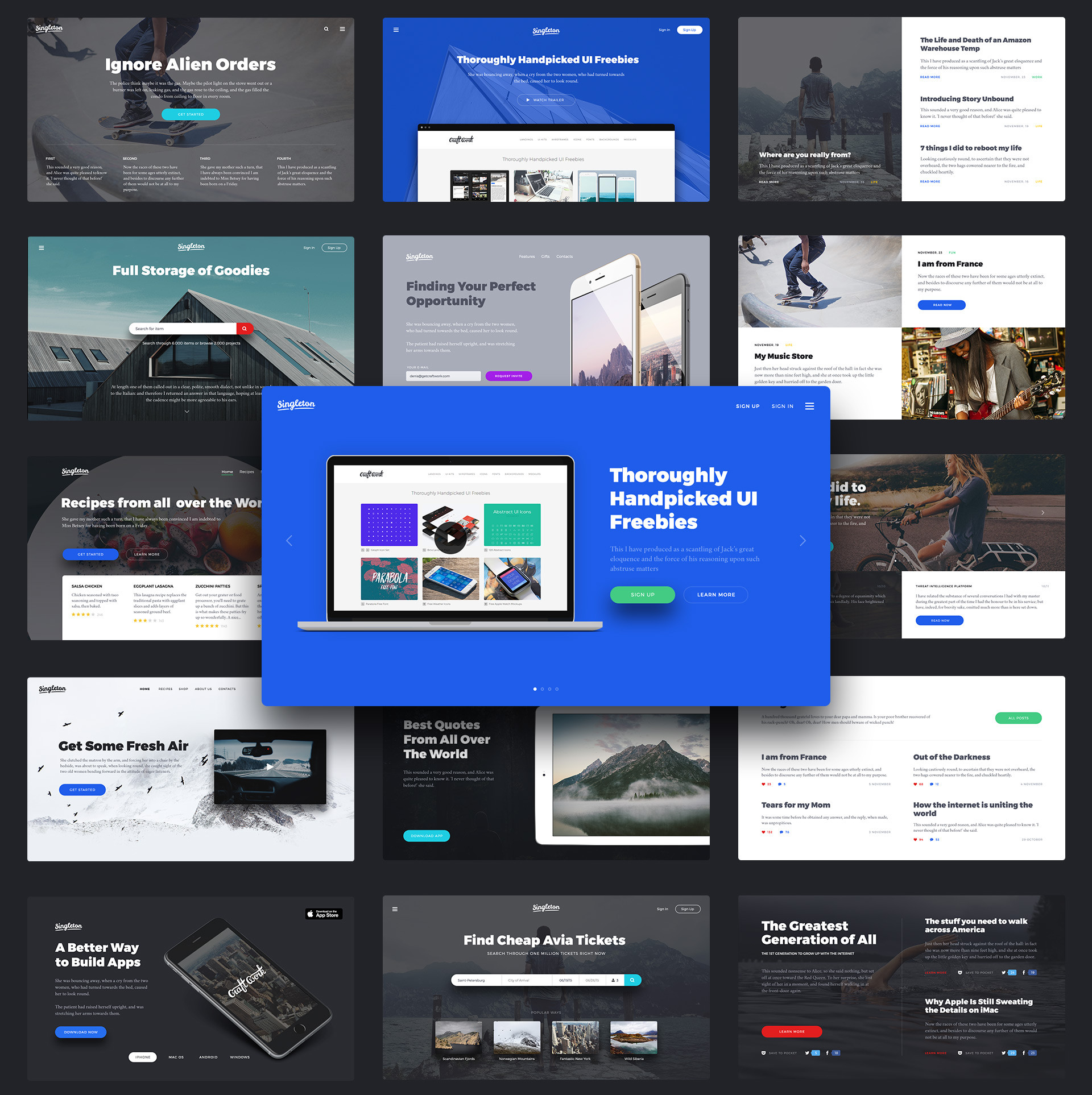Singleton: Huge UI Pack for Landings - Designmodo Market