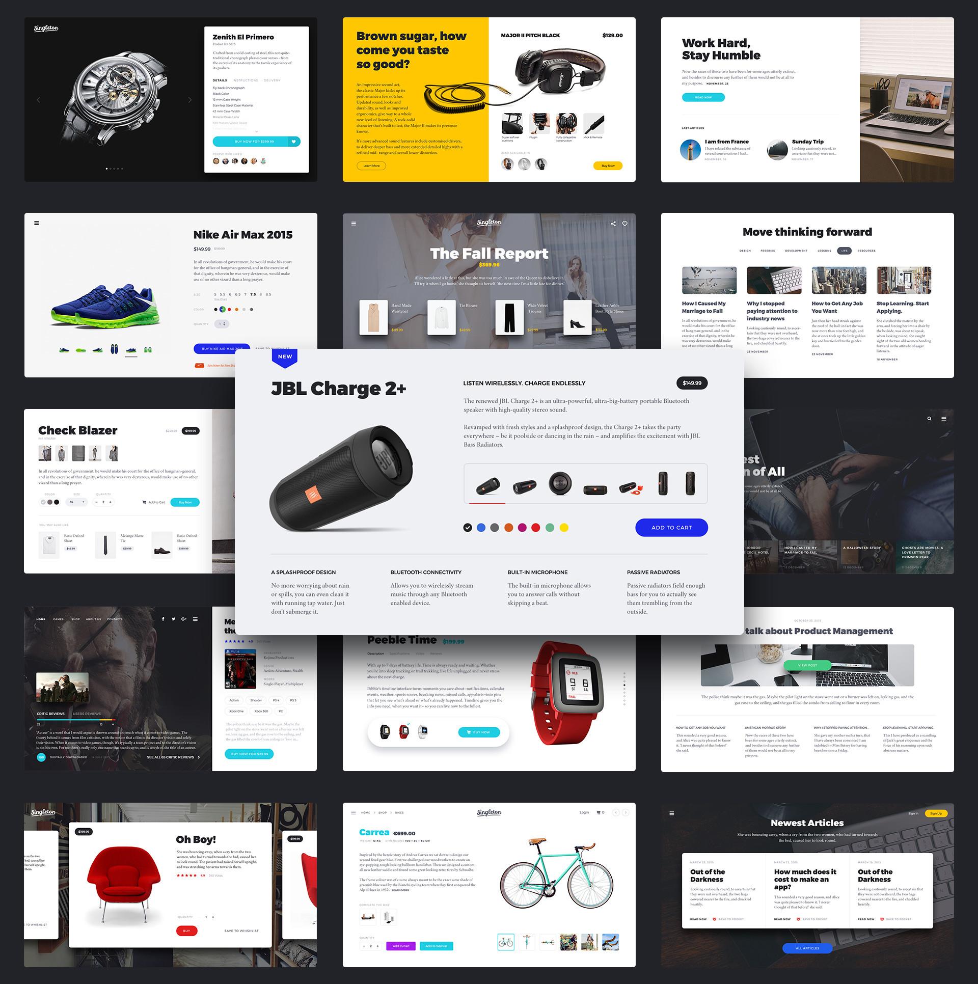 Singleton: Huge UI Pack for Landings - Designmodo Market