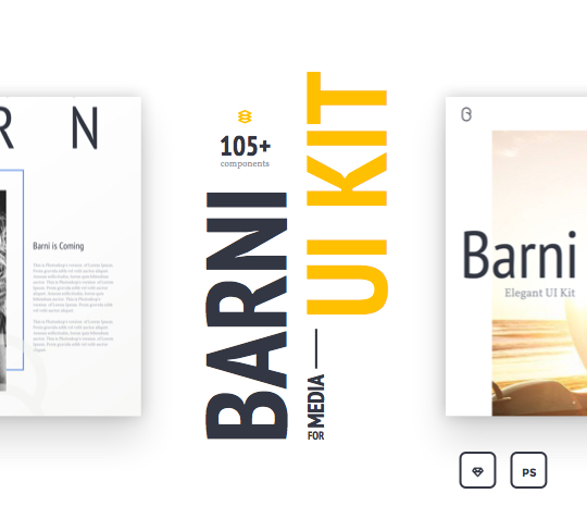 Barni-for-Media UI Kit