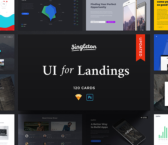 Singleton: Huge UI Pack for Landings
