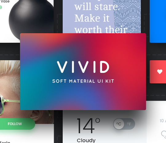 VIVID – Soft Material UI Kit