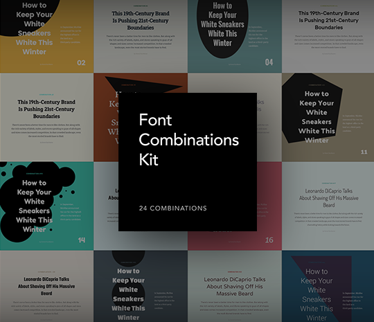 Font Combinations Kit