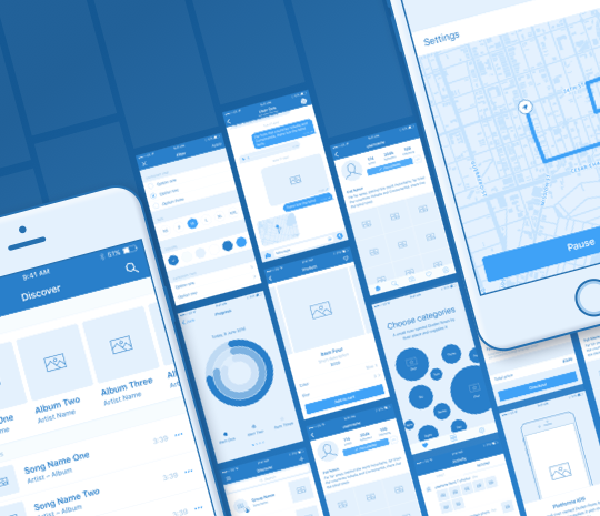 Platforma iOS Wireframe Kit