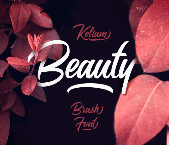 Kelium Brush Font