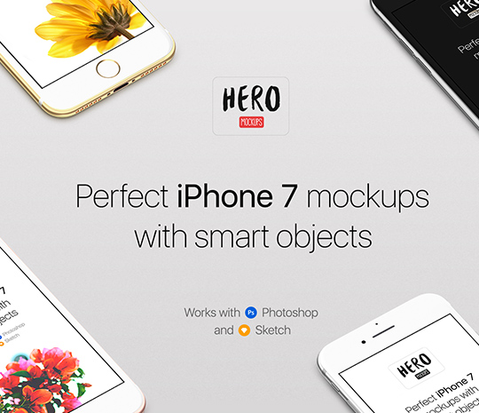 HERO – iPhone 7 Mockups