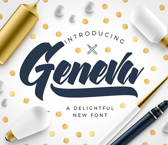 Geneva Script Font