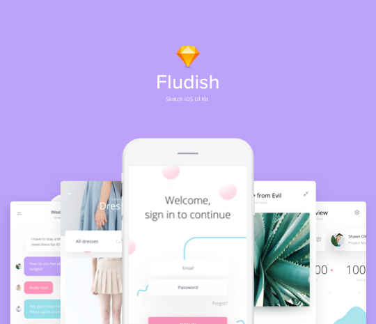 Fludish Sketch UI Kit