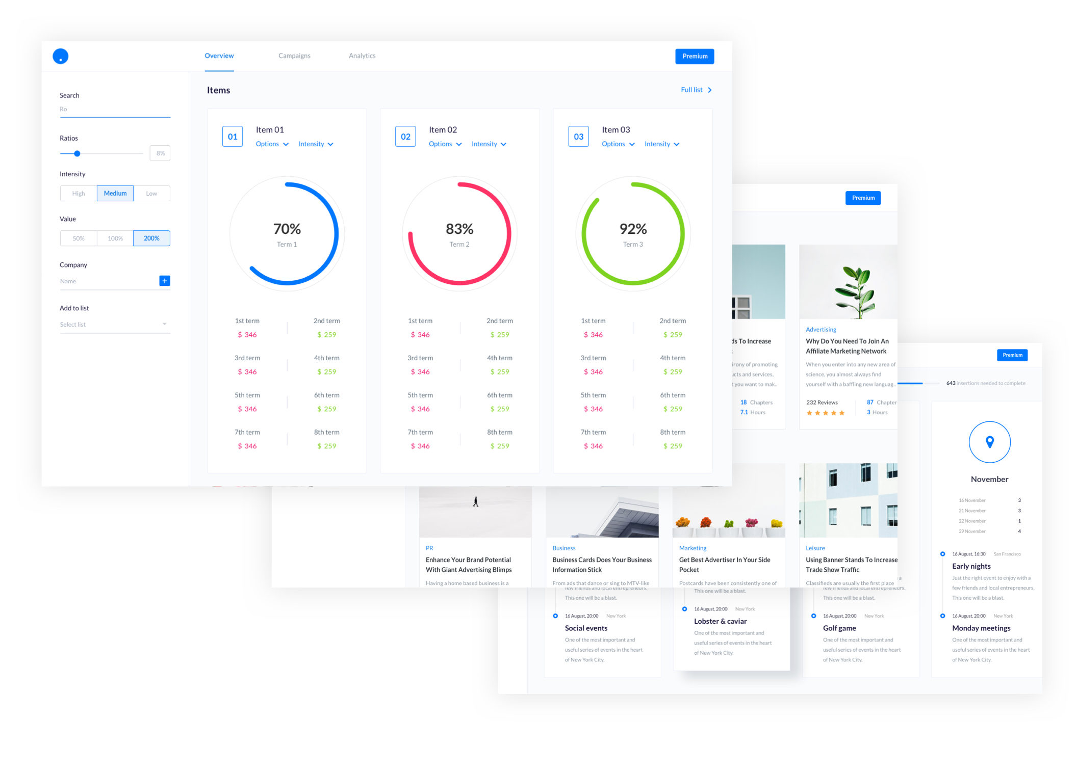 SaaS Dashboards UI Kit - Designmodo Market