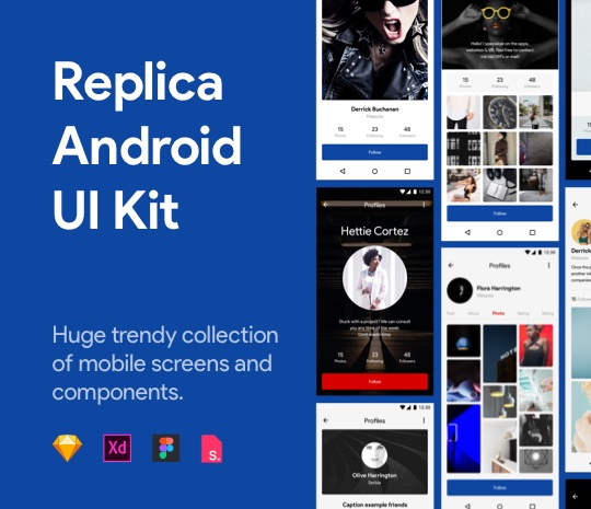 Replica Android UI Kit