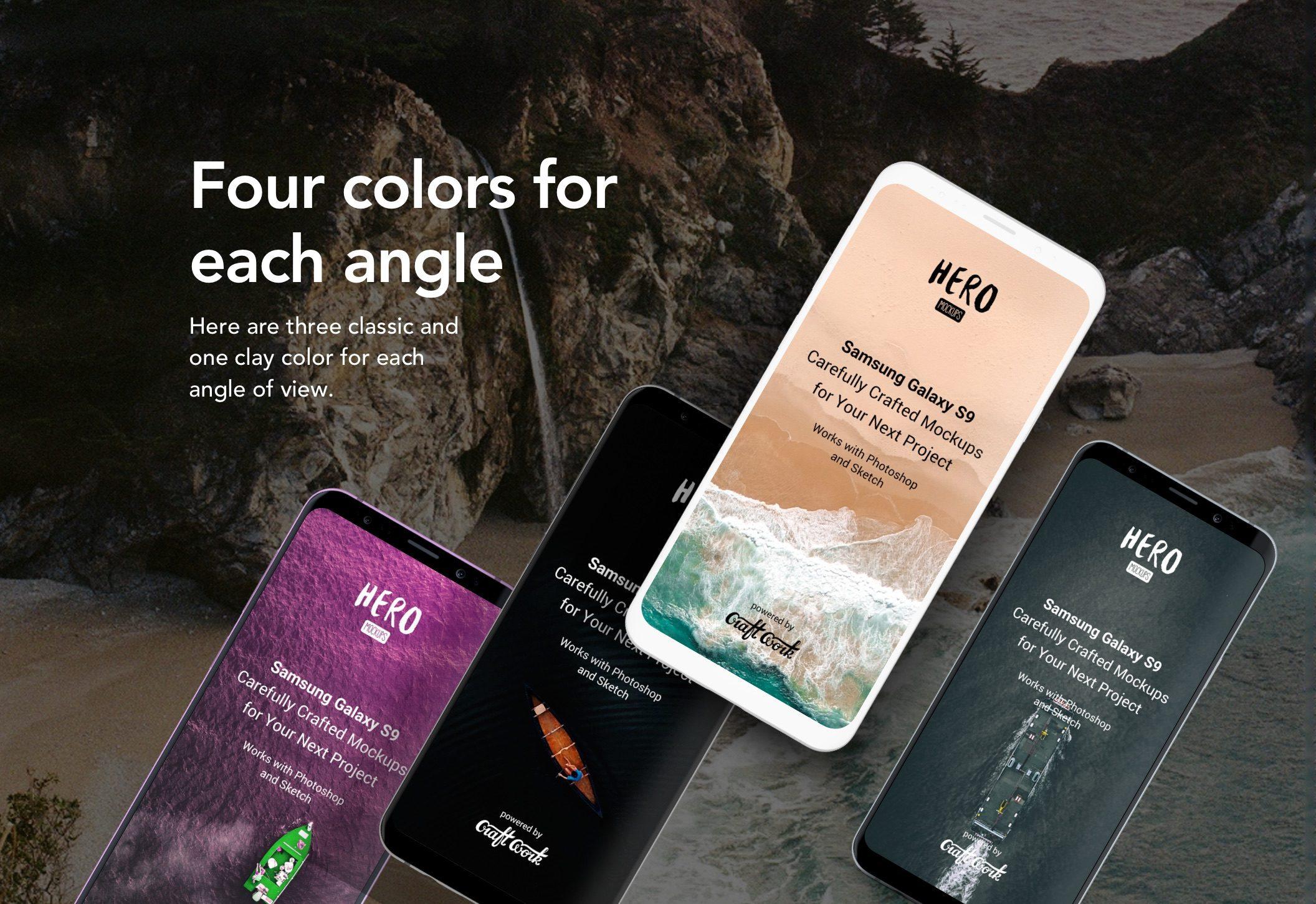 HERO Samsung Galaxy S9 Mockups - Designmodo Market