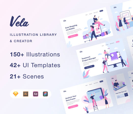 Vela Illustration Library