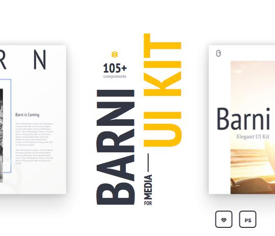 Barni-for-Media UI Kit