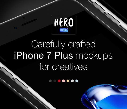 HERO iPhone 7 Plus Mockups