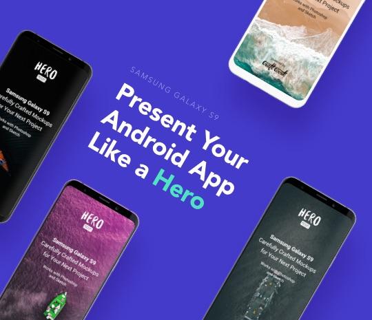 HERO Samsung Galaxy S9 Mockups