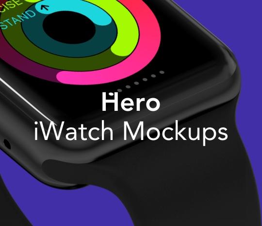 HERO iWatch Mockups
