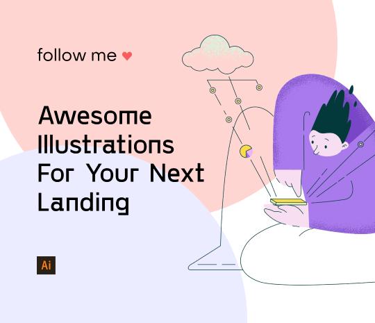 Follow Me Illustrations