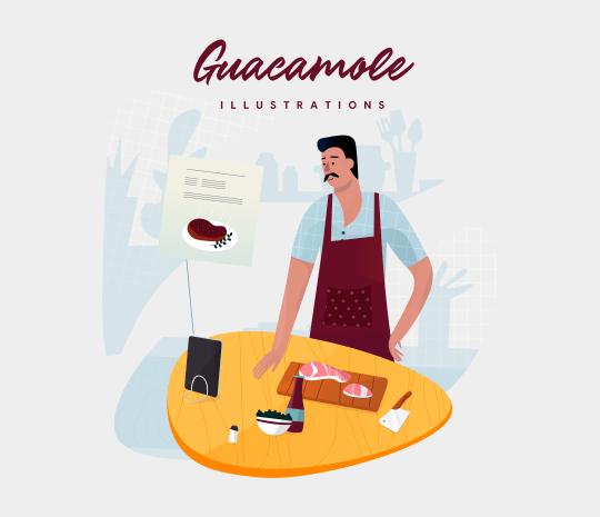 Guacamole Illustrations