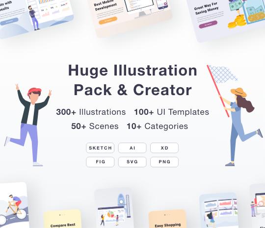 Huge Illustration Pack & Creator